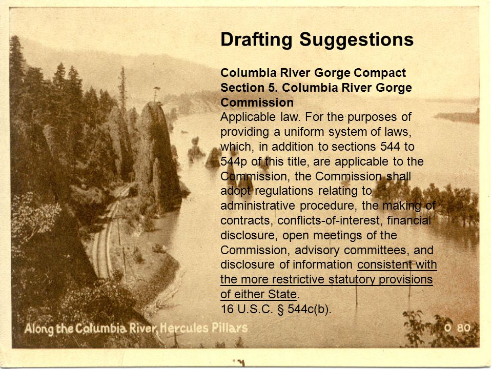 Drafting Suggestions Columbia River Gorge Compact Section 5.