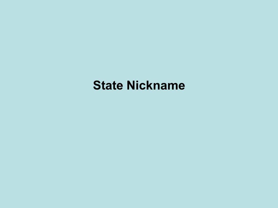 State Nickname