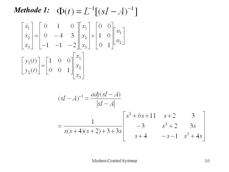 Modern Control Systems10 Methode 1:
