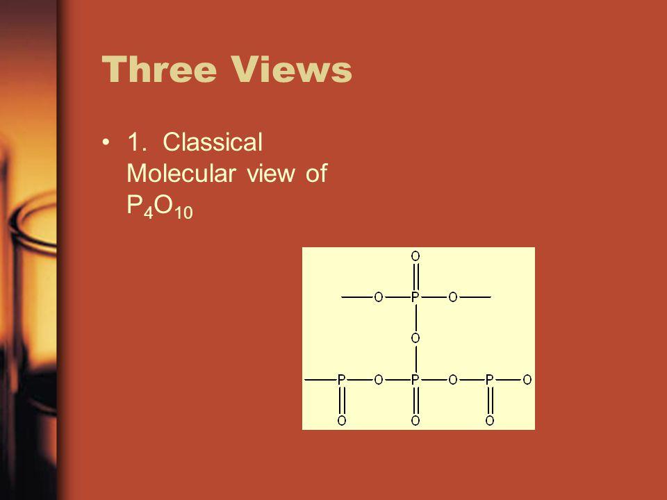 Three Views 1. Classical Molecular view of P 4 O 10