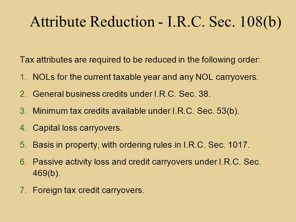 Current State Cases – Bankr.Code § 346 v IRC § 108.