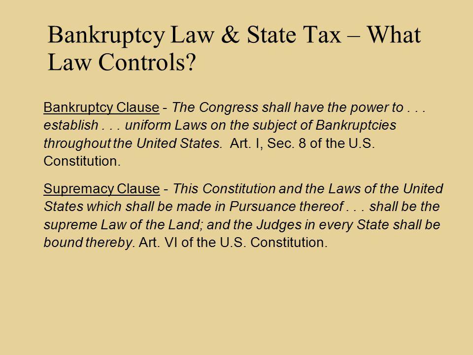Former Bankruptcy Code Sec.346 (Note that Bankr. Code Sec.