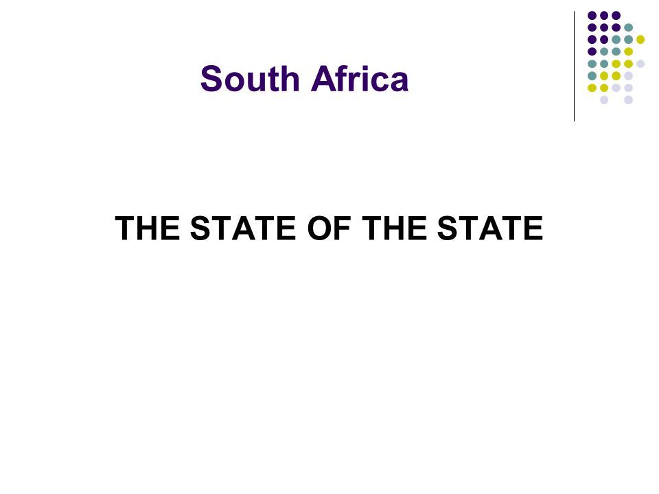 South Africa THE STATE OF THE STATE