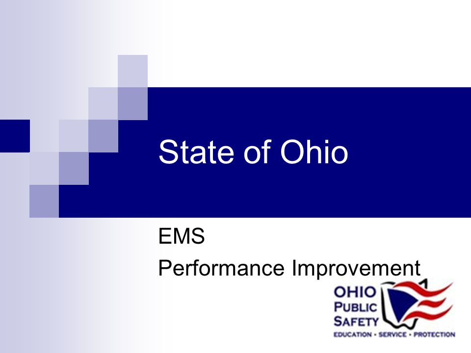 State of Ohio EMS Performance Improvement