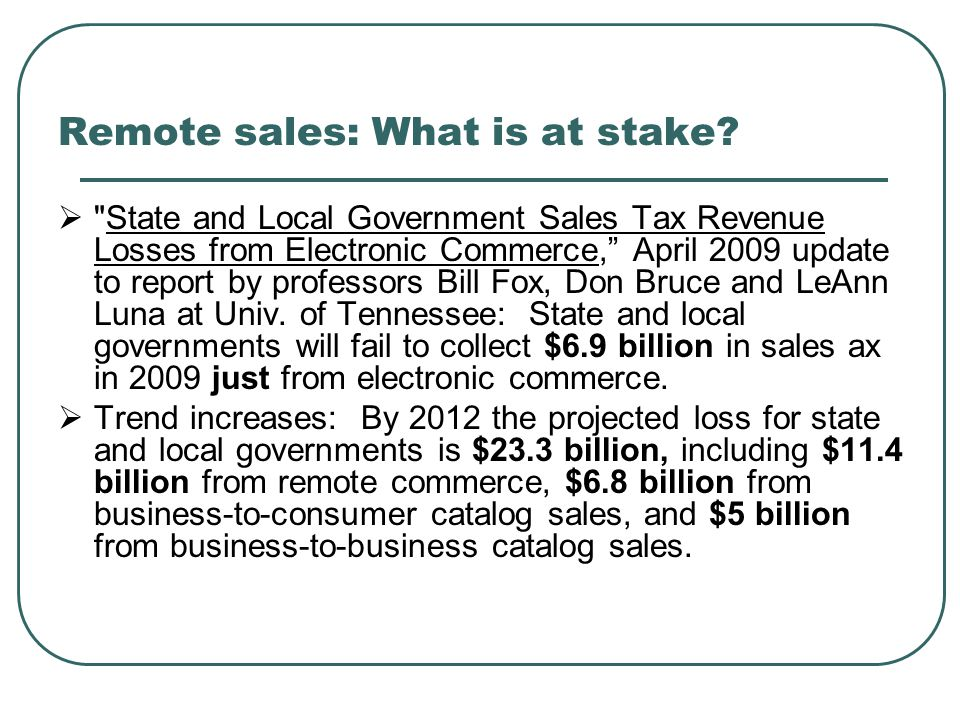 Remote sales: What is at stake.