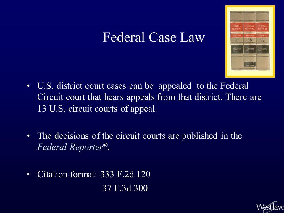 Federal Case Law U.S.