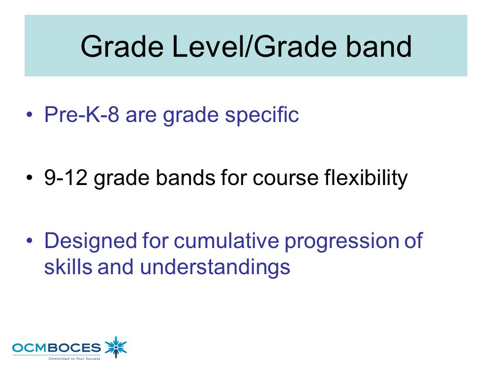 Anchor Standards Broad expectations consistent across grades and content Based on college and career readiness