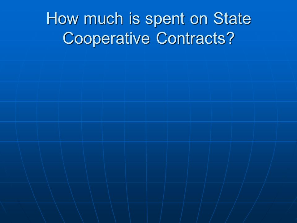 How much is spent on State Cooperative Contracts?