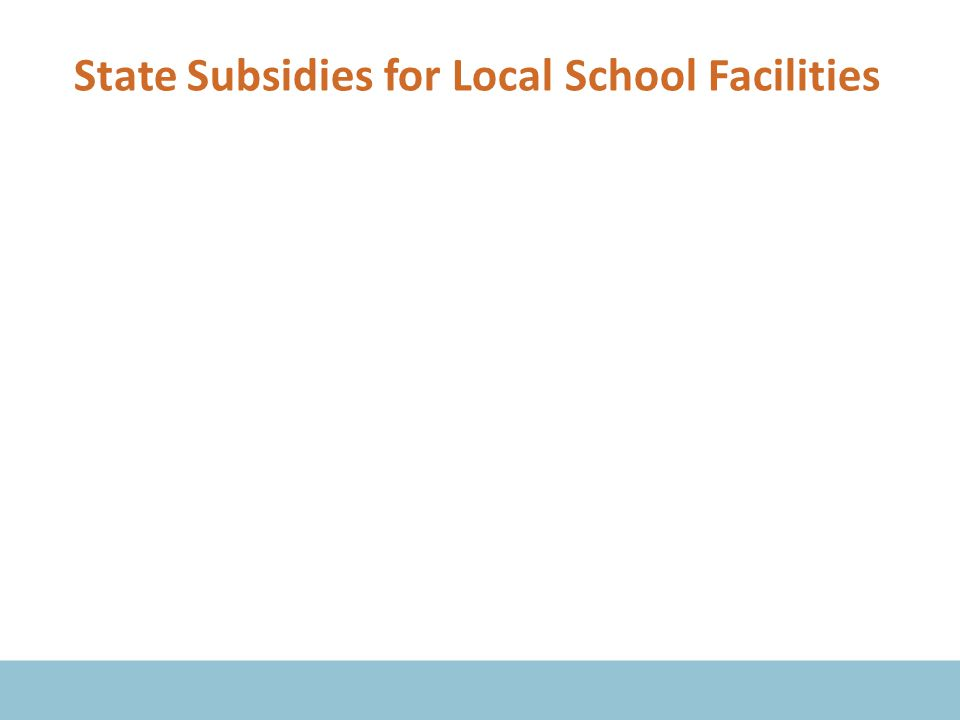 State Subsidies for Local School Facilities