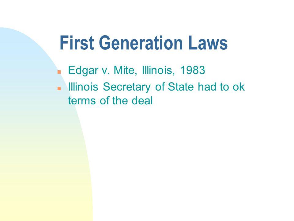 First Generation Laws n Edgar v.