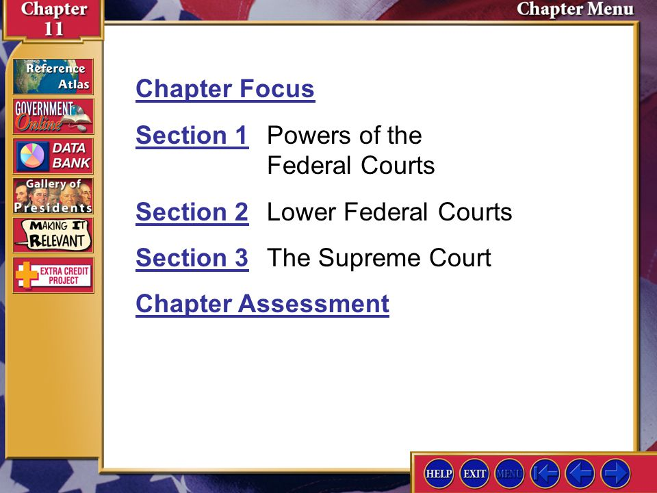 Section 2 Assessment-4 4.What two major divisions of federal courts has Congress created.