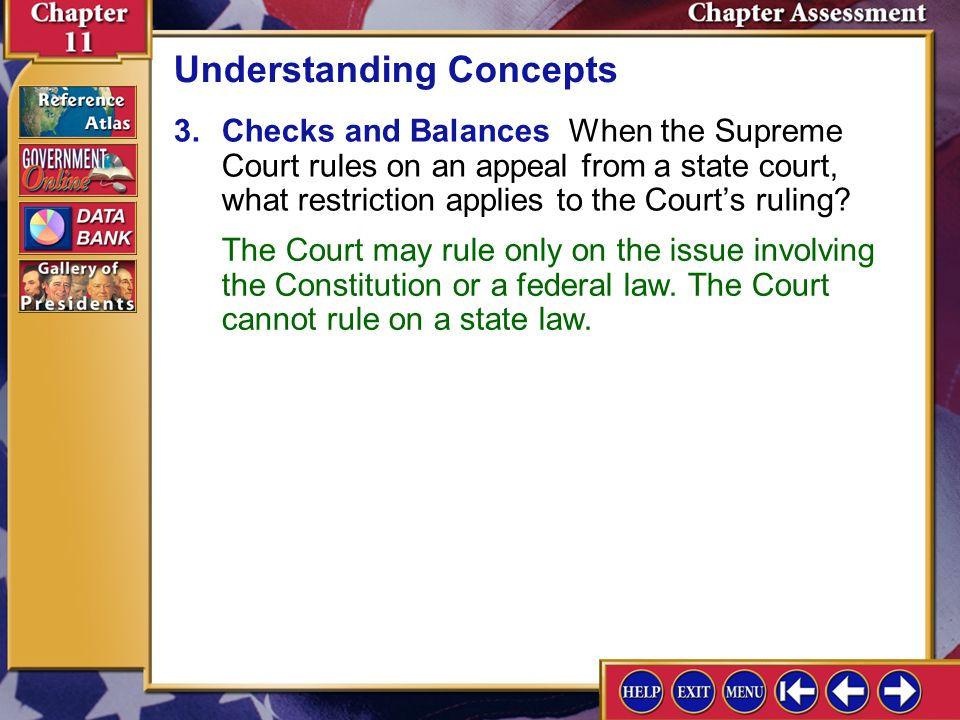 Chapter Assessment 8 2.Political Processes Federal district judges generally represent the values and attitudes of the states that they serve. How can