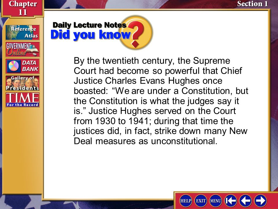 Section 2-1 Although presidents have the authority to select federal judges, Congress can block those selections.