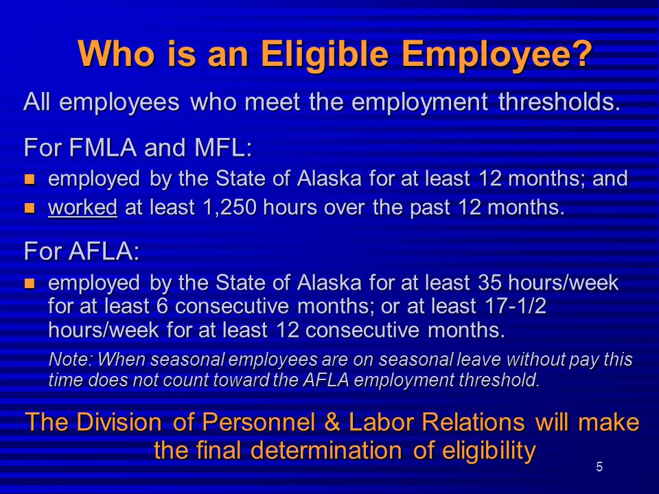 Who is an Eligible Employee.All employees who meet the employment thresholds.