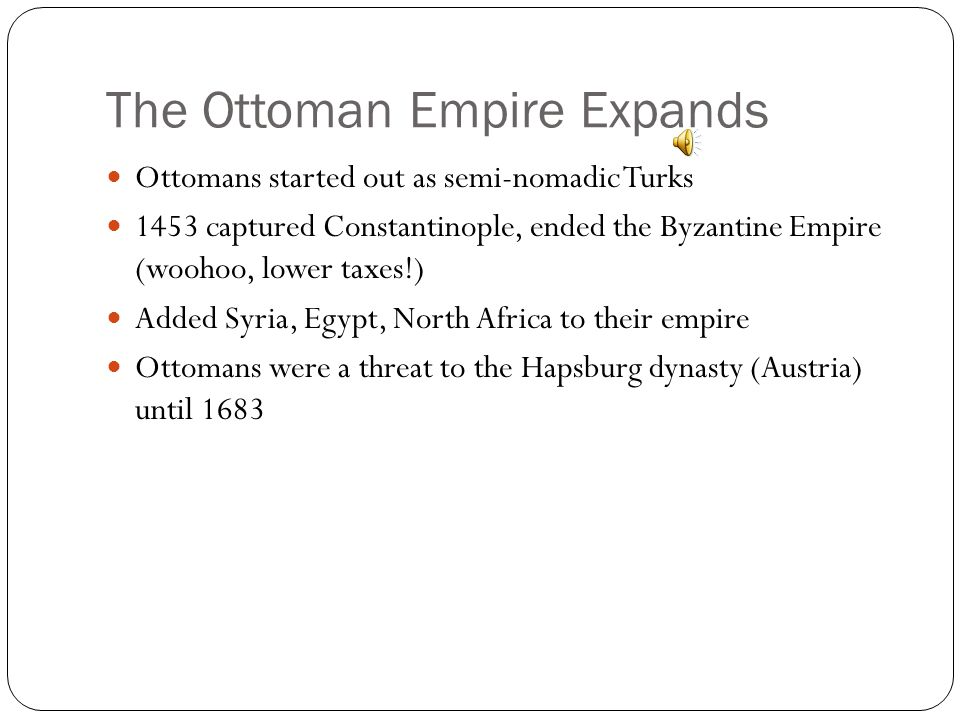 The Ottoman Empire Expands Selim I took control of Mesopotamia, Egypt, and Arabia – included Jerusalem, Mecca, and Madinah. He took the title of calip