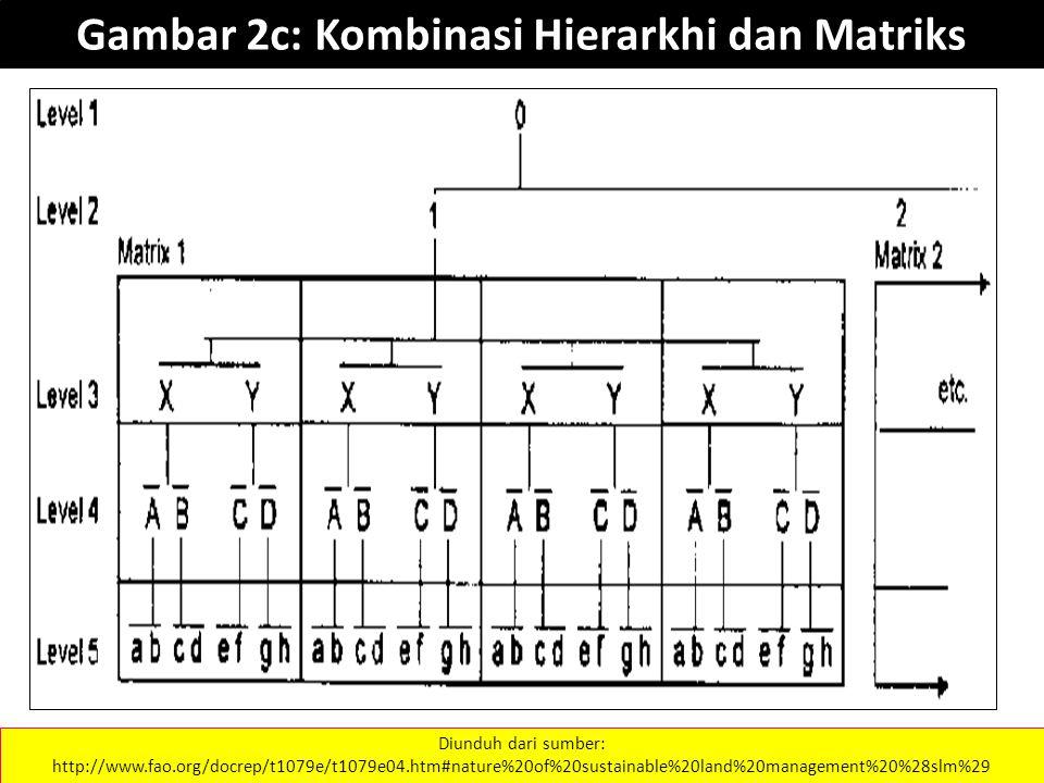 Gambar 2c: Kombinasi Hierarkhi dan Matriks Diunduh dari sumber: http://www.fao.org/docrep/t1079e/t1079e04.htm#nature%20of%20sustainable%20land%20management%20%28slm%29