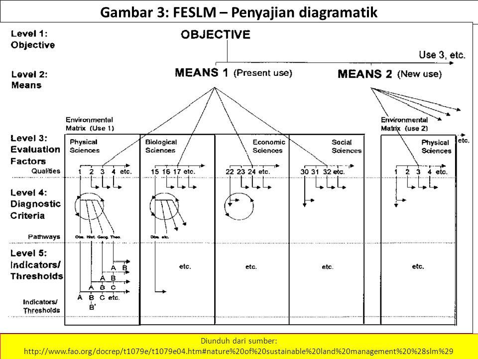 Gambar 3: FESLM – Penyajian diagramatik Diunduh dari sumber: http://www.fao.org/docrep/t1079e/t1079e04.htm#nature%20of%20sustainable%20land%20management%20%28slm%29