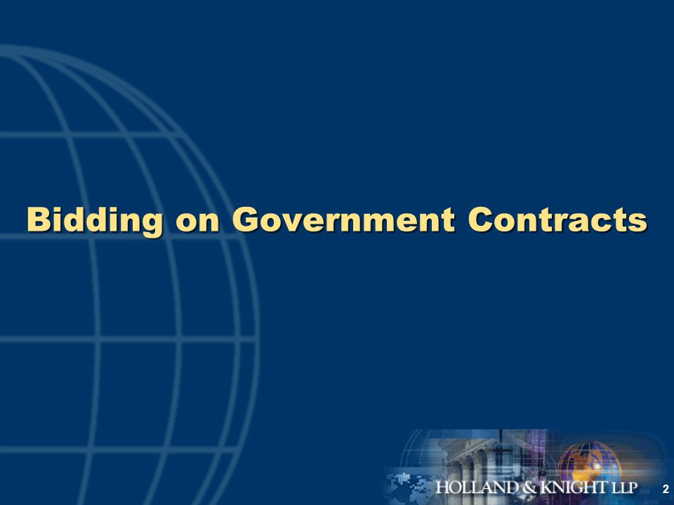 2 Bidding on Government Contracts