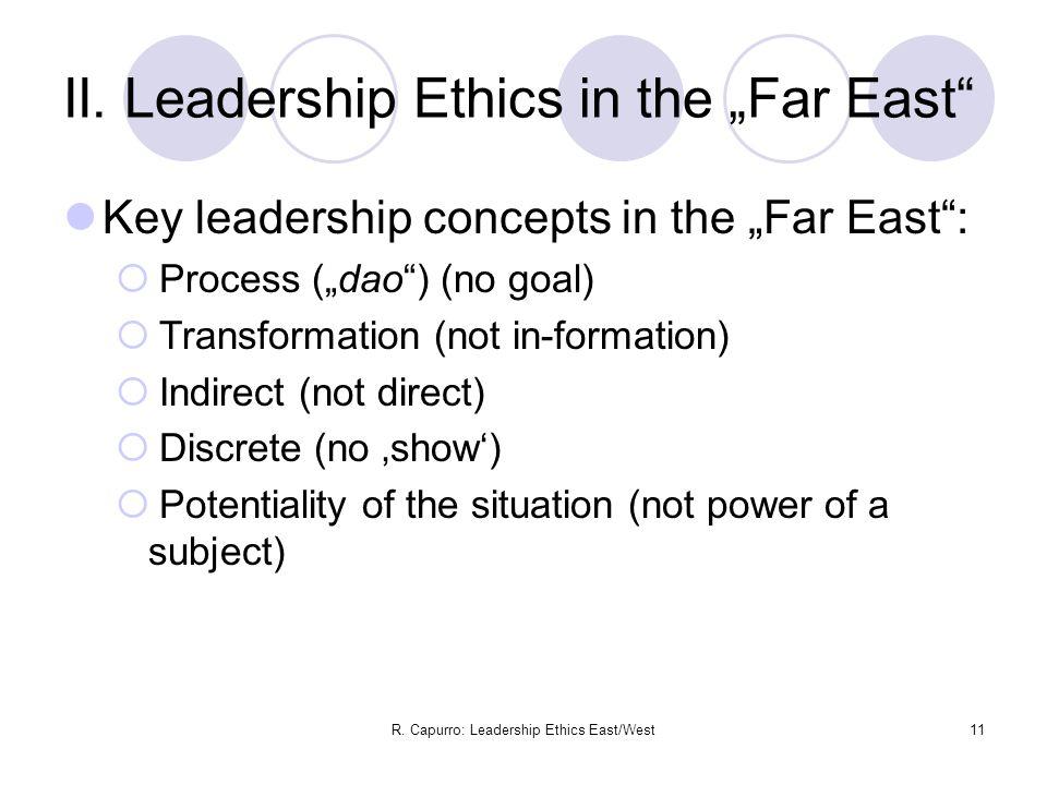 R. Capurro: Leadership Ethics East/West11 II.