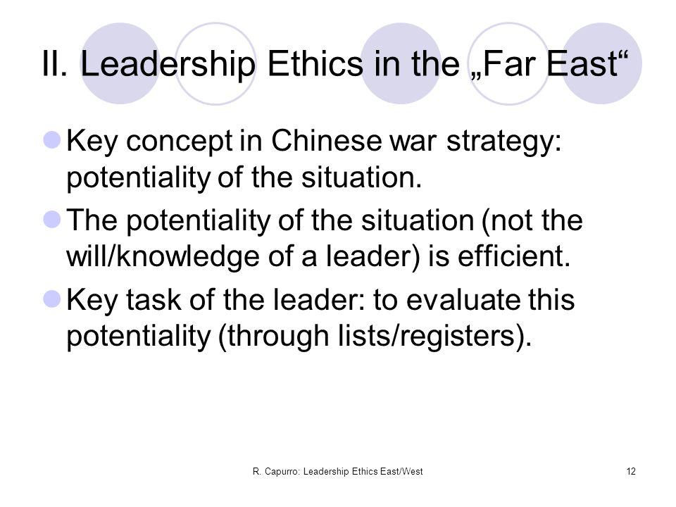 R. Capurro: Leadership Ethics East/West12 II.