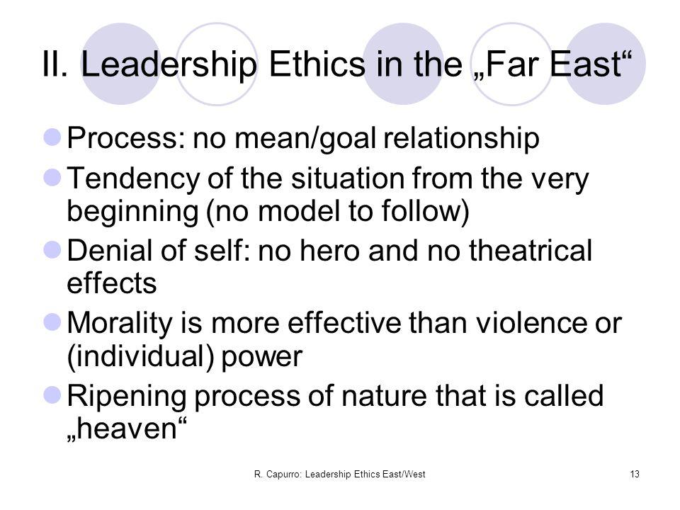 R. Capurro: Leadership Ethics East/West13 II.