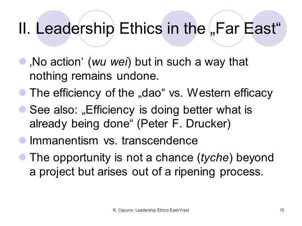 R. Capurro: Leadership Ethics East/West15 II.