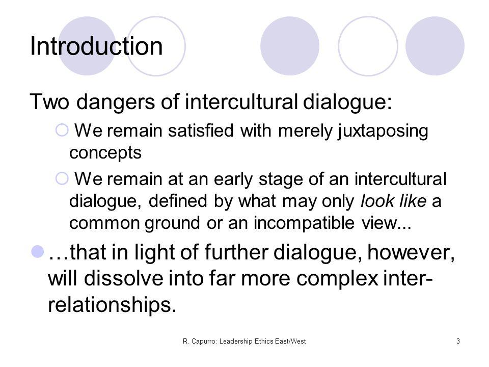 R.Capurro: Leadership Ethics East/West14 II.