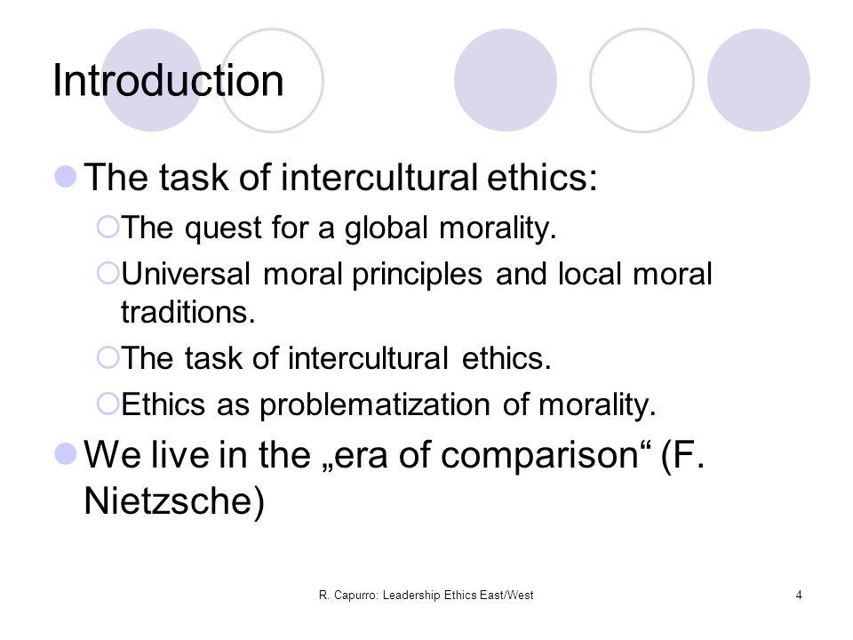 R.Capurro: Leadership Ethics East/West15 II.