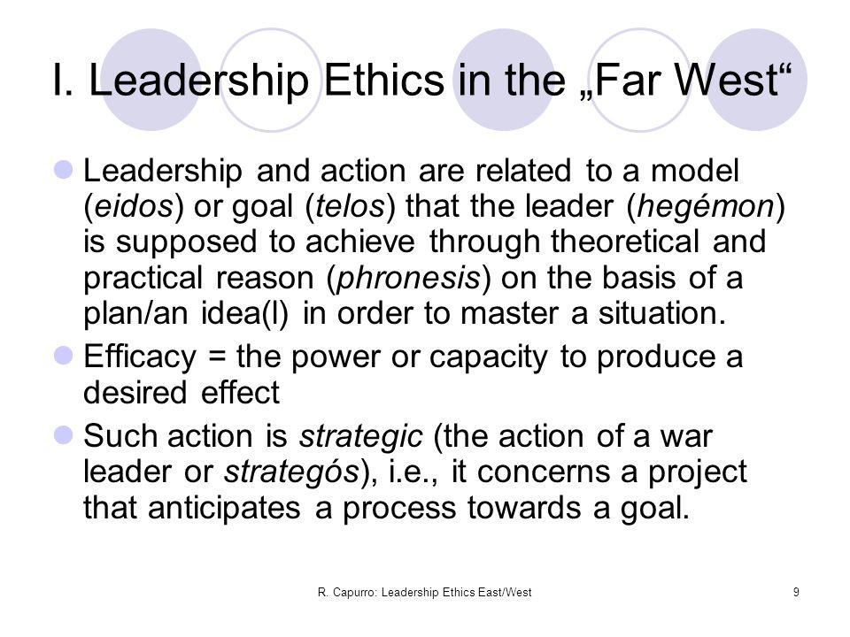 R. Capurro: Leadership Ethics East/West9 I.