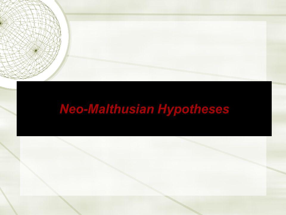 Neo-Malthusian Hypotheses