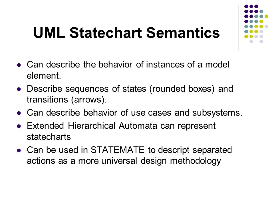 References [1] Unified Modeling Language Document Set.