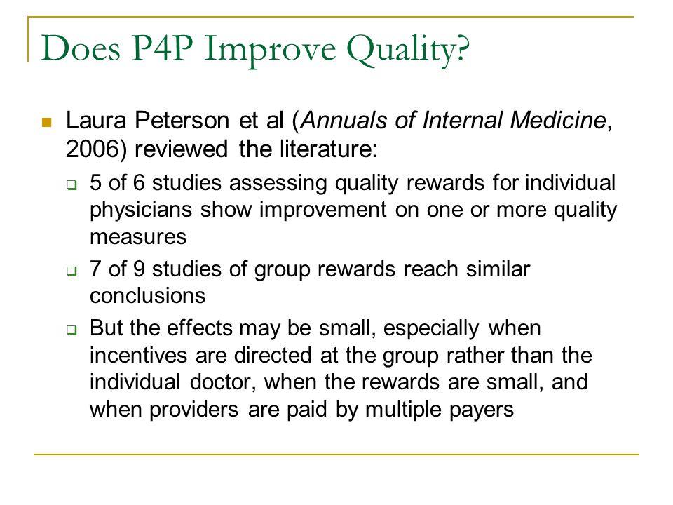Does P4P Improve Quality.