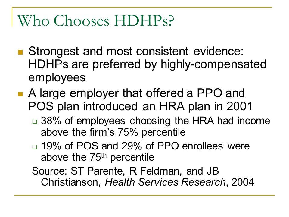 Who Chooses HDHPs.