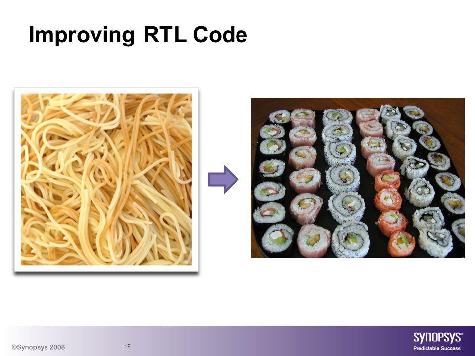 18 Improving RTL Code