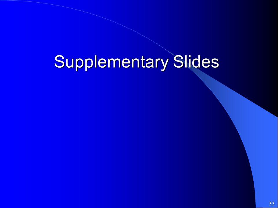 55 Supplementary Slides