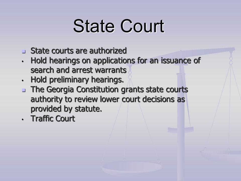 Superior Court Georgia's general jurisdiction trial court.