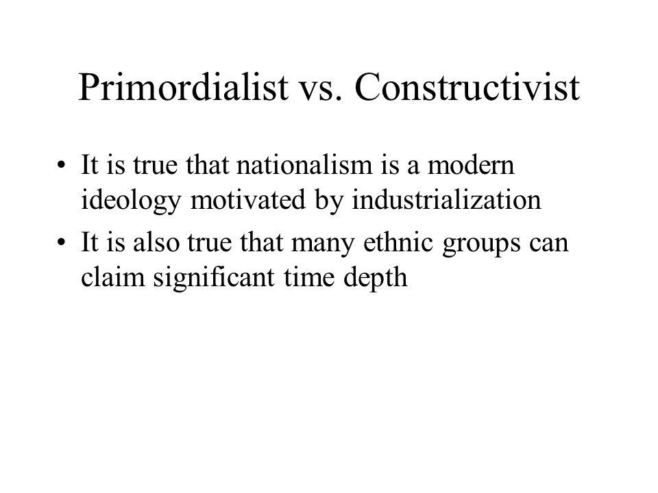 Primordialist vs.