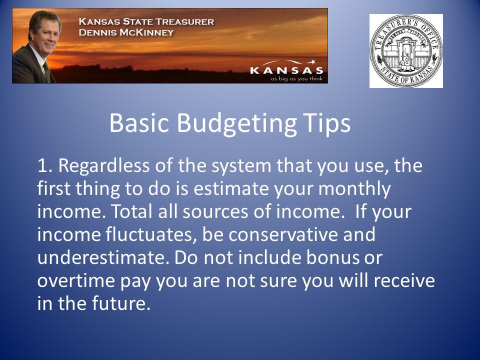 Basic Budgeting Tips 1.