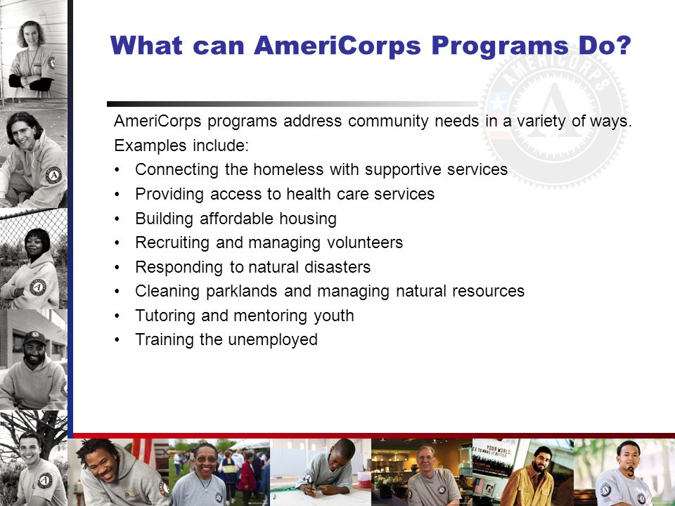 3 What can AmeriCorps Programs Do.