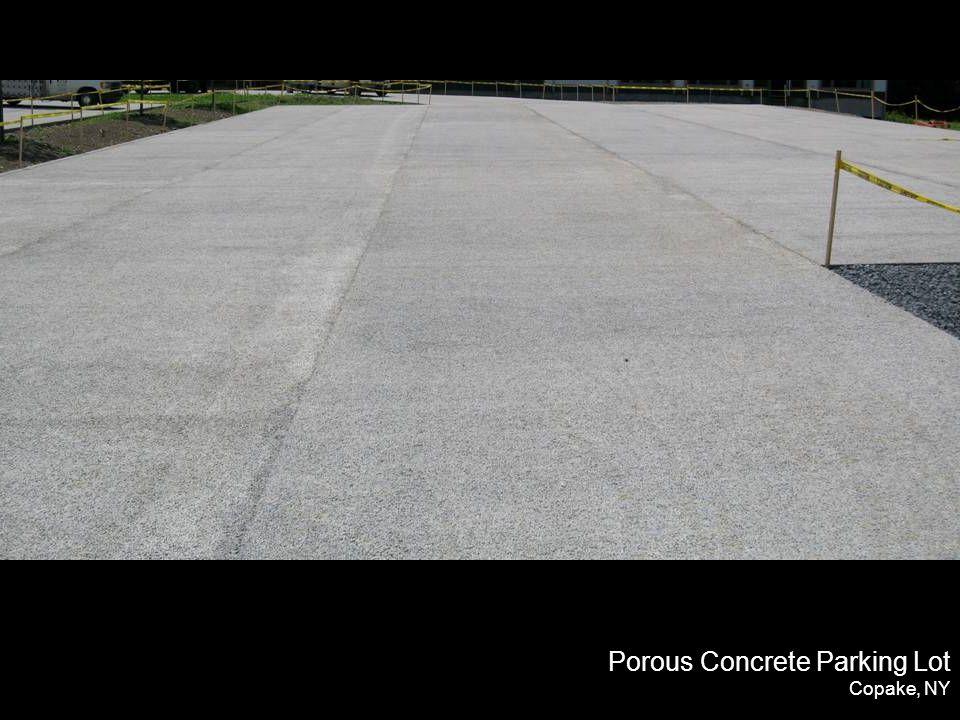Porous Concrete Parking Lot Copake, NY