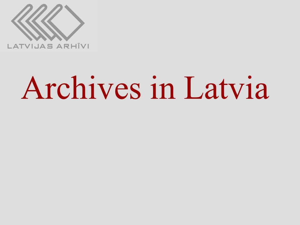 Archives in Latvia