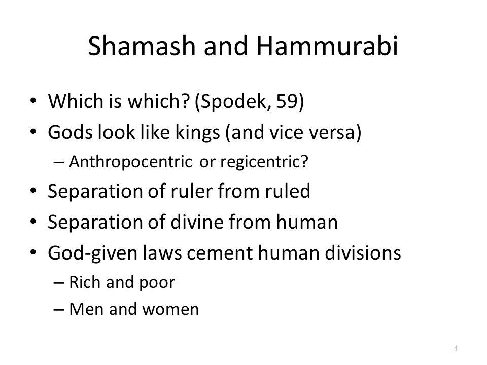 Shamash and Hammurabi Which is which.