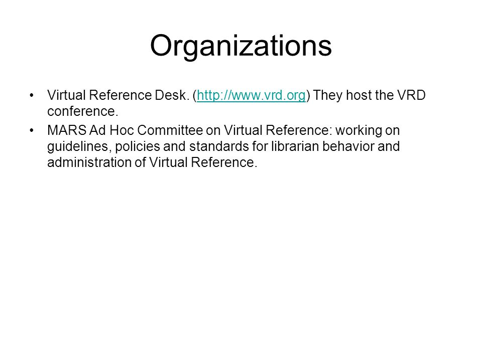 Other Virtual Services Ask a+ Locator- A network of expert-based services (for instance, ask an ornithologist) ( http://www.vrd.org/locator/subject.shtml) http://www.vrd.org/locator/subject.shtml LSSI and 24/7- rent a librarian services.