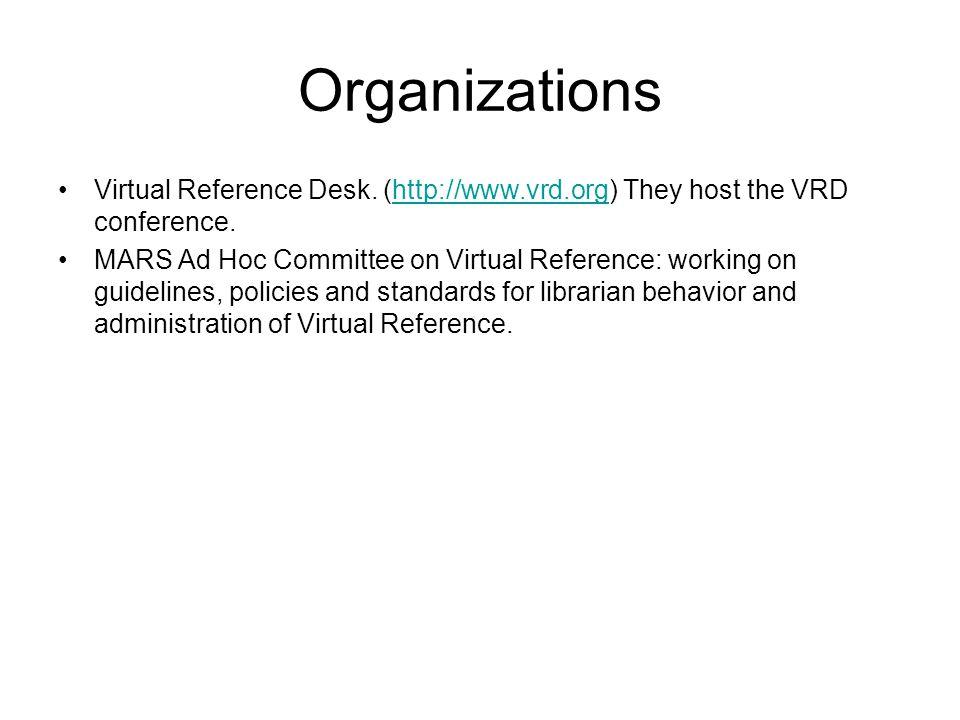 Organizations Virtual Reference Desk.