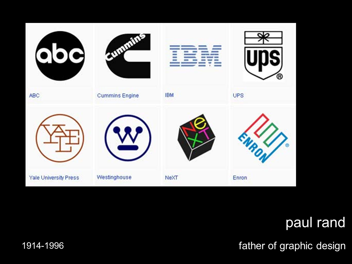 paul rand father of graphic design 1914-1996