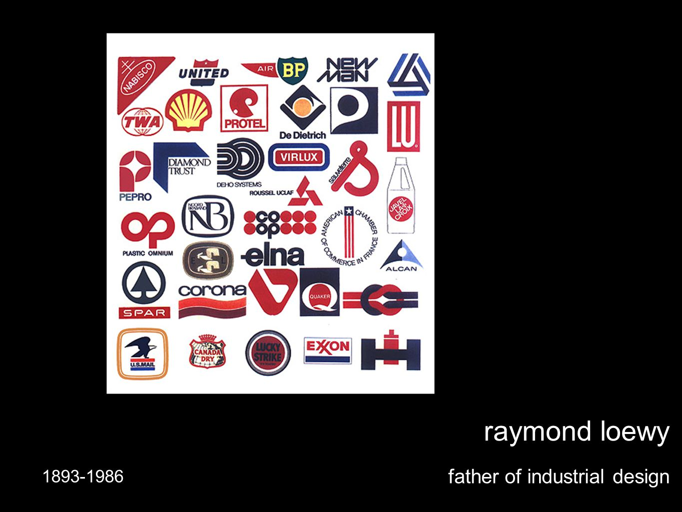 raymond loewy father of industrial design 1893-1986