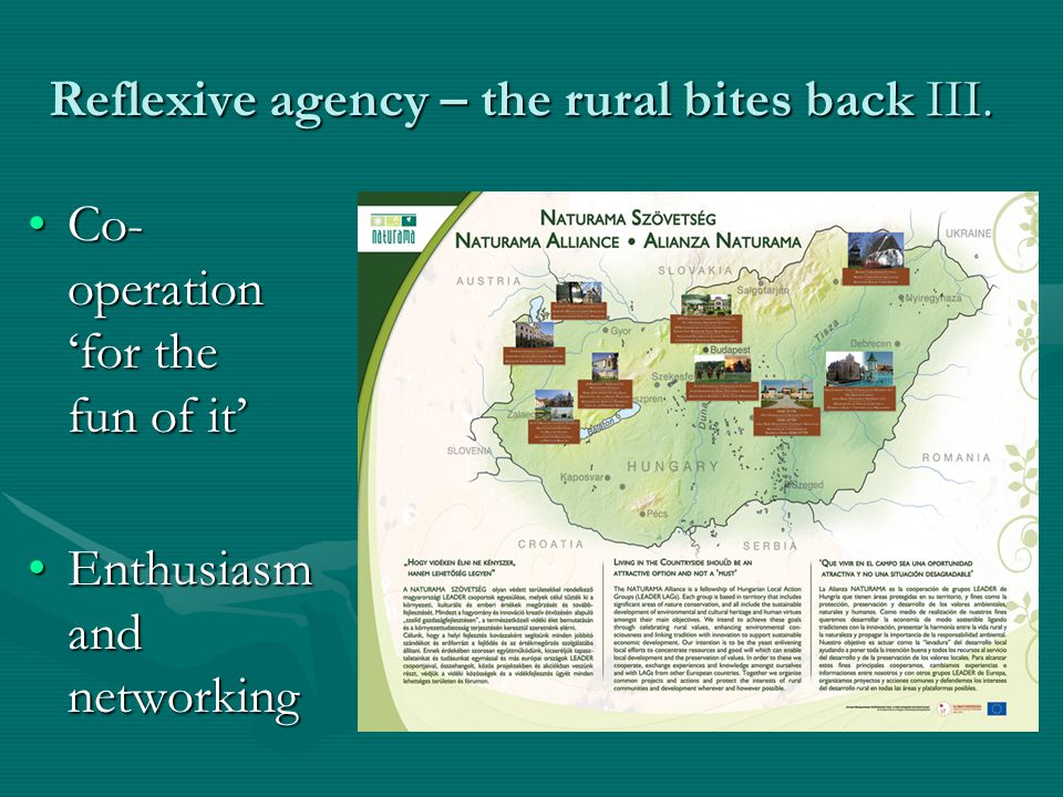 Reflexive agency – the rural bites back III.