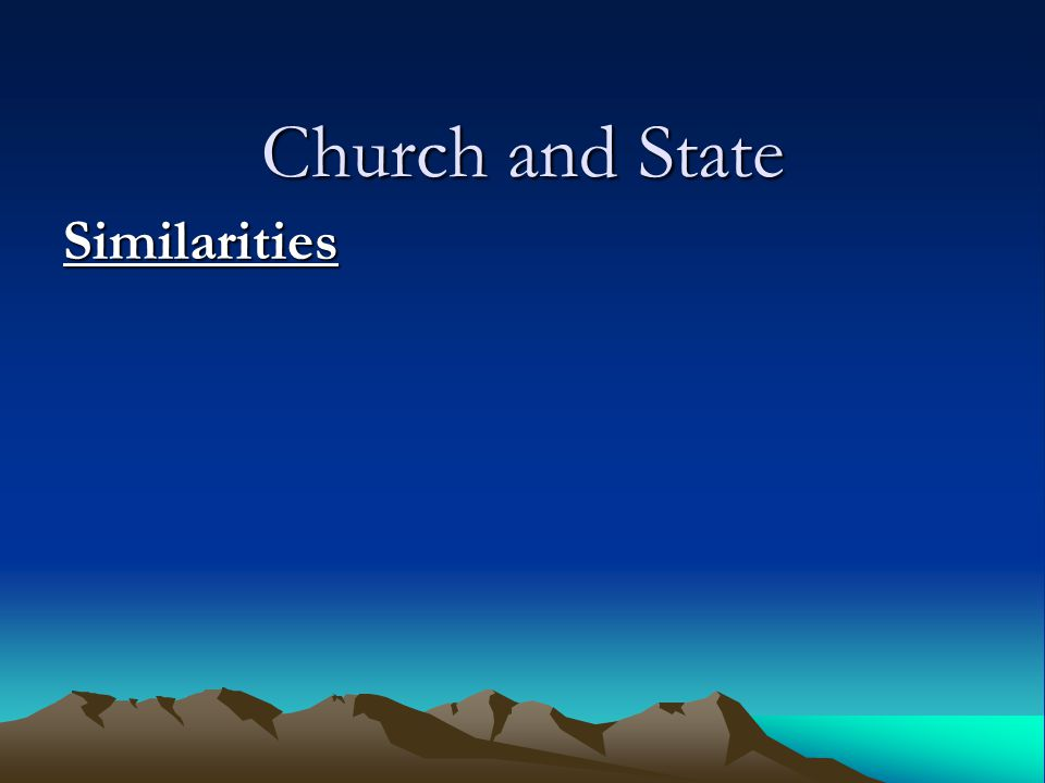 Similarities State: I urge, then, first of all, that requests, prayers, intercession and thanksgiving be made for everyone— for kings and all those in authority, that we may live peaceful and quiet lives in all godliness and holiness.