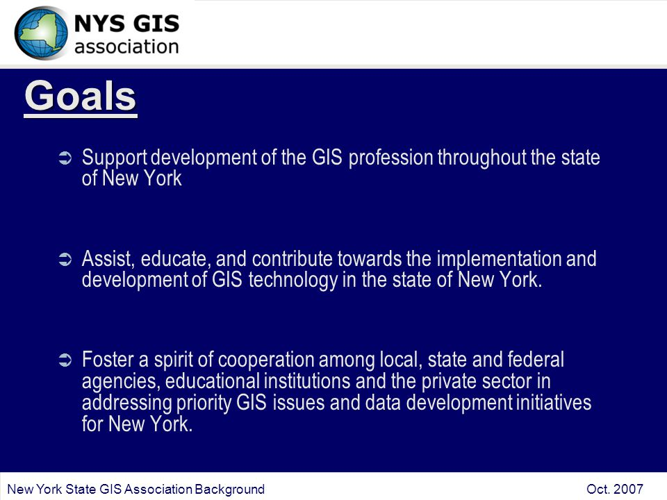 New York State GIS Association Background Oct.