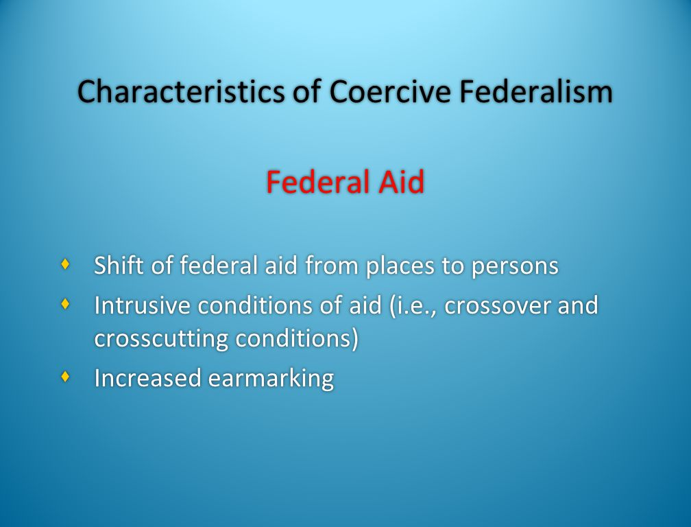 Consequences of Federal Aid Shift from Places to Persons  Place-based aid for infrastructure, economic development, education, criminal justice, gove